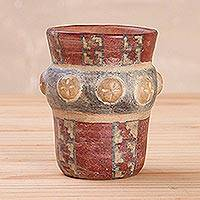 Ceramic decorative vase, 'Wari Ceremonial Vessel' - Handcrafted Wari Ceramic Decorative Vase from Peru