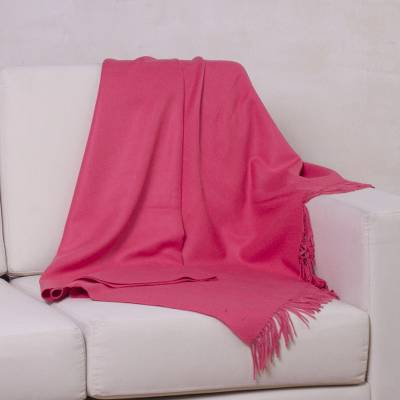 100% baby alpaca throw, Blissful Dream in Rose