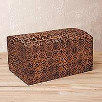 Walnut shell decorative box, 'Walnut Secret' - Handcrafted Walnut Shell Decorative Box from Peru