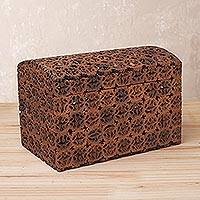 Walnut shell decorative box, 'Walnut Dream' - Handcrafted Walnut Shell Decorative Box from Peru