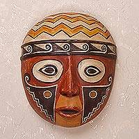 Ceramic mask, 'Wari Pride' - Ceramic Mask Inspired by Wari Culture from Peru