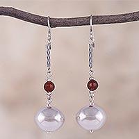 Carnelian dangle earrings,