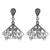 Sterling silver filigree dangle earrings, 'Dark Butterfly Wings' - Sterling Silver Filigree Dangle Earrings from Peru (image 2a) thumbail