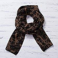 Featured review for Alpaca blend reversible scarf, Marbled Beauty