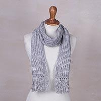 Rib knit scarf,