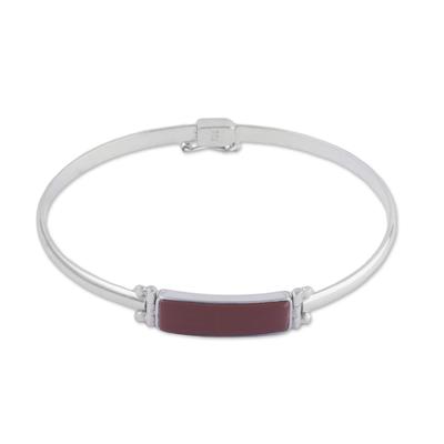 Rectangular Jasper Pendant Bracelet from Peru