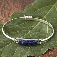 Lapis lazuli pendant bracelet, 'Andean Rectangle' (Peru)