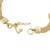 Gold plated sterling silver chain bracelet, 'Dragon Royalty' - Gold Plated Sterling Silver Naga Chain Bracelet from Peru (image 2e) thumbail