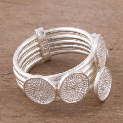 Sterling Silver Filigree Cocktail Ring from Peru