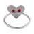 Silver cocktail ring, 'Love Line' - Handcrafted Brushed 950 Silver Heart Ring from Peru (image 2d) thumbail