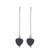 Sterling silver drop earrings, 'Pathway to My Heart' - Modern Hematite Heart Earrings Crafted of Sterling Silver (image 2a) thumbail