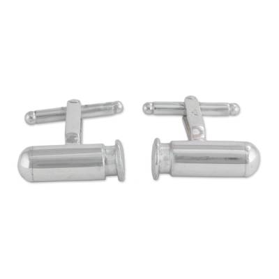 Artisan Crafted Andean Sterling Silver Cufflinks