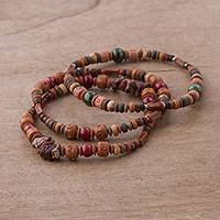 Featured review for Jasper and ceramic beaded stretch bracelets, Stalwart (set of 3)