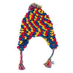 Alpaca blend chullo hat, 'Andean Festivity' - Hand-Crocheted Colorful Alpaca Blend Chullo Hat from Peru