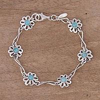 Amazonite link bracelet,