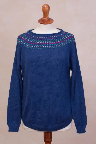 100% baby alpaca sweater, Indigo Luxury