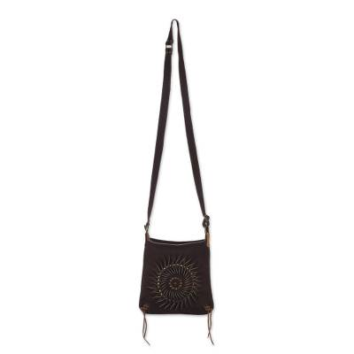 Handcrafted Suede Sling in Coffee from Peru