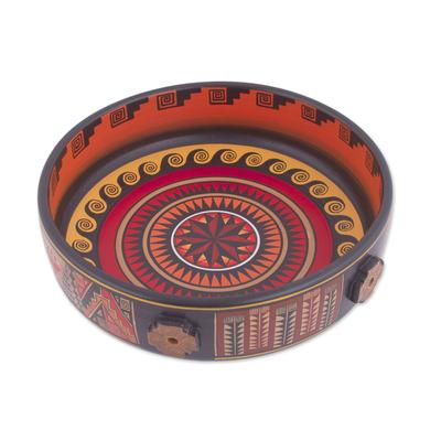 Handcrafted Ceramic Decorative Bowl from Peru