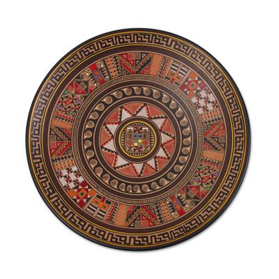 Handcrafted Ceramic Decorative Plate from Peru