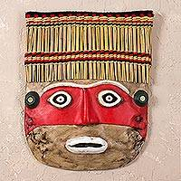Recycled paper mask, 'Chancay' - Collectible Archaeological Recycled Paper Mask