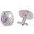 Sterling silver cufflinks, 'Stylish Stripes' - Patterned Sterling Silver Cufflinks from Peru (image 2c) thumbail