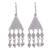 Opal dangle earrings, 'Triangle Rain' - Triangular Opal and Silver Dangle Earrings from Peru (image 2a) thumbail