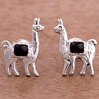 Onyx stud earrings,