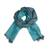 Baby alpaca and silk blend scarf, 'Options in Teal' - Baby Alpaca and Silk Blend Teal and Grey Reversible Scarf (image 2a) thumbail
