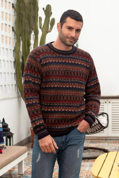 Mens 100% alpaca sweater, Complexity