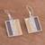 Gold accent sterling silver dangle earrings, 'Windows of Light' - Rectangular Gold Accent Silver Dangle Earrings from Peru (image 2b) thumbail