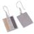 Gold accent sterling silver dangle earrings, 'Windows of Light' - Rectangular Gold Accent Silver Dangle Earrings from Peru (image 2c) thumbail