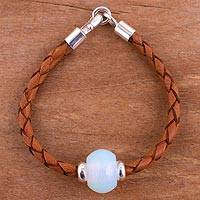 Glass pendant bracelet,