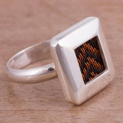 Arrow Motif Sterling Silver Cocktail Ring from Peru