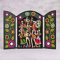 Featured review for Wood and plaster retablo, Ancestor Fiesta