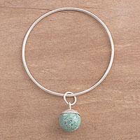 Chrysocolla charm bracelet,