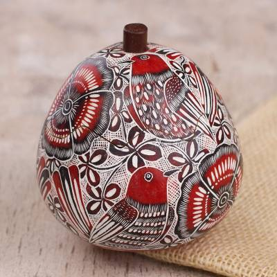 Gourd decorative box, Redbirds Song