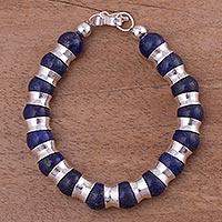 Lapis lazuli beaded bracelet,