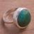Chrysocolla cocktail ring, 'Tumultuous Sea' - Green-Blue Chrysocolla and Sterling Silver Cocktail Ring thumbail
