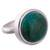 Chrysocolla cocktail ring, 'Tumultuous Sea' - Green-Blue Chrysocolla and Sterling Silver Cocktail Ring (image 2a) thumbail