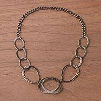 Featured review for Bronze plated link necklace, Bronze Modernity