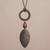 Bronze plated tiger's eye pendant necklace, 'Bronze Leaf in the Wind' - Bronze Plated Tiger's Eye Pendant Necklace from Peru thumbail