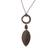Bronze plated tiger's eye pendant necklace, 'Bronze Leaf in the Wind' - Bronze Plated Tiger's Eye Pendant Necklace from Peru (image 2c) thumbail