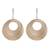 Gold plated dangle earrings, 'Rings of Gold' - Peruvian Gold Plated Dangle Earrings with Two Rings (image 2a) thumbail