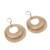 Gold plated dangle earrings, 'Rings of Gold' - Peruvian Gold Plated Dangle Earrings with Two Rings (image 2c) thumbail