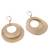 Gold plated dangle earrings, 'Rings of Gold' - Peruvian Gold Plated Dangle Earrings with Two Rings (image 2d) thumbail