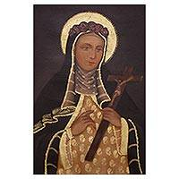 'Saint Rose of Lima' - Colonial Replica of Saint Rose of Lima from Peru