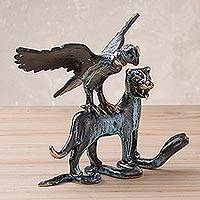 Bronze statuette, 'Incan Trilogy' - Condor, Puma, Serpent Bronze Statuette of Inca Trilogy