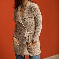 Alpaca blend sweater jacket,