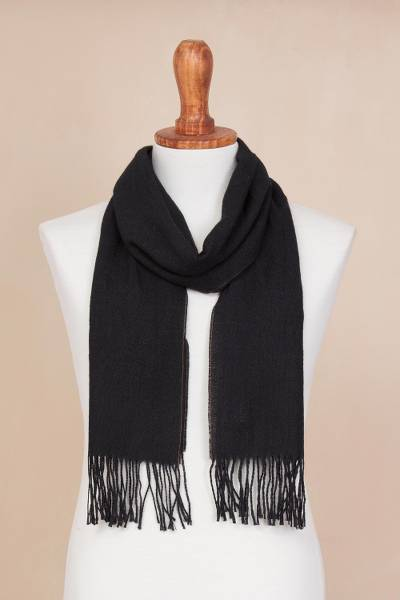 100% alpaca scarf, Evening Mariner