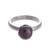 Cultured pearl cocktail ring, 'Black Nascent Flower' - Cultured Pearl Cocktail Ring in Black from Peru (image 2a) thumbail